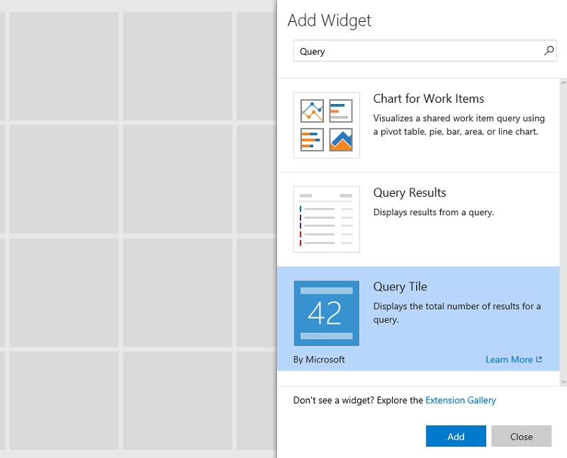 Widget catalog