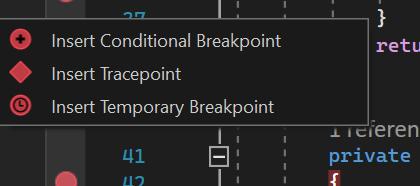 Breakpoint Context Menu