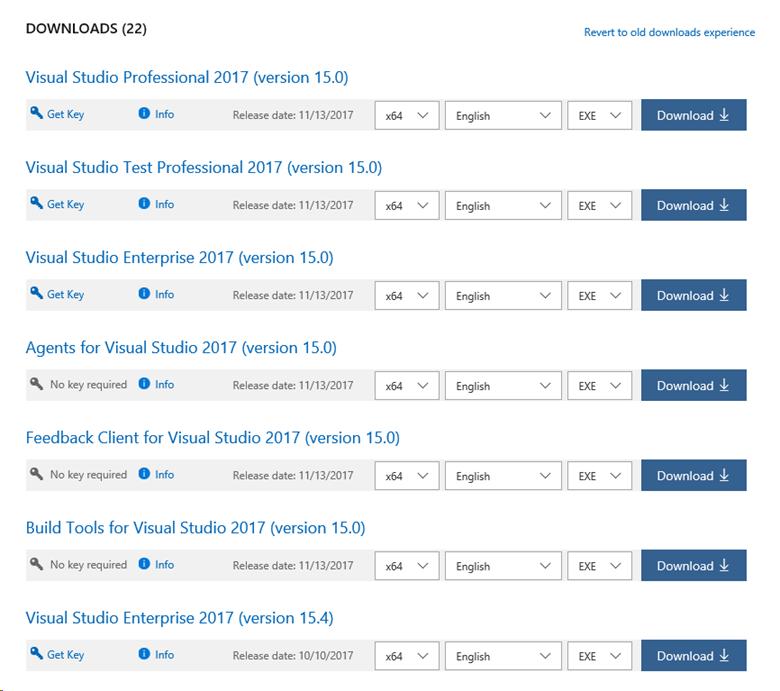 Microsoft visual studio download.