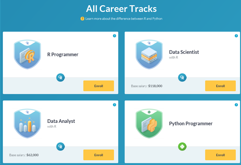 Enhance your data science skills today with the DataCamp
