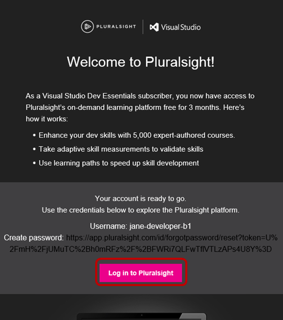 Pluralsight benefit in Visual Studio subscriptions | Microsoft Docs