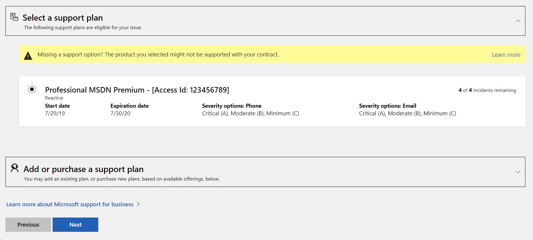 msdn access id