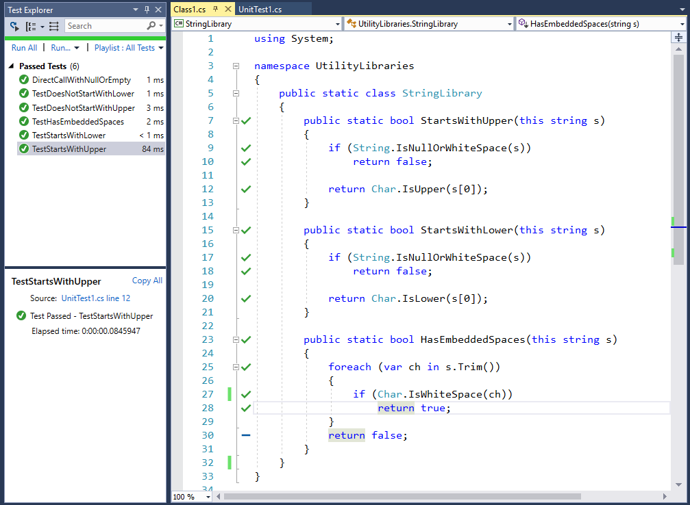 Learn how to test your code with Live Unit Test - Visual Studio
