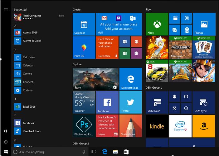 Customize the Start layout | Microsoft Docs