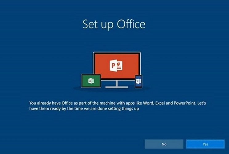 Set up Office - Office 2016 preinstalled