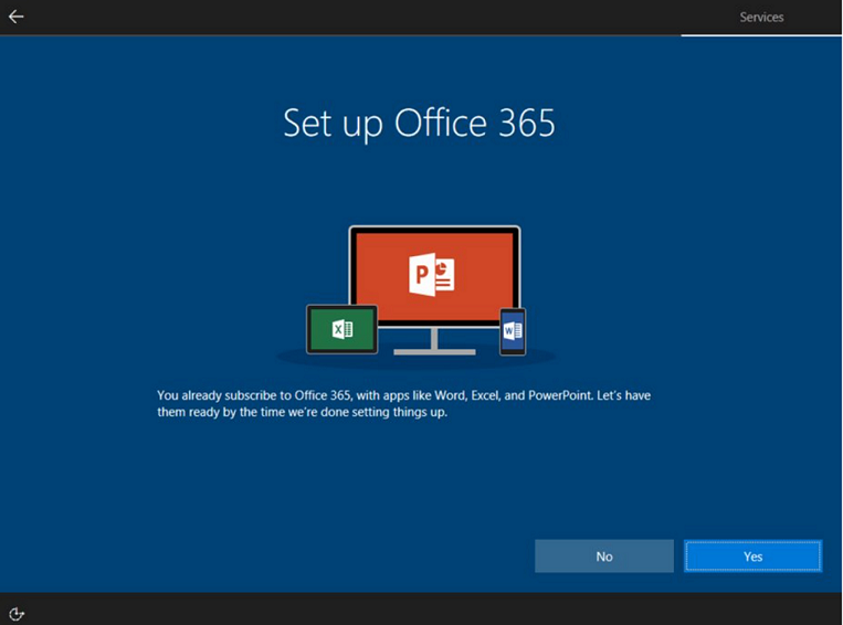 Set up Office 365 - existing O365 subscriber