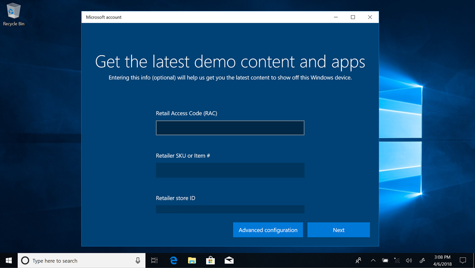 RDX screen: Get the latest demo content and apps