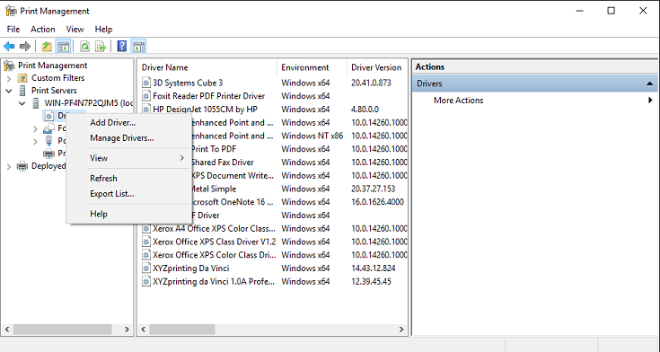 Microsoft Serial GCode 3D Printer 64 BIT