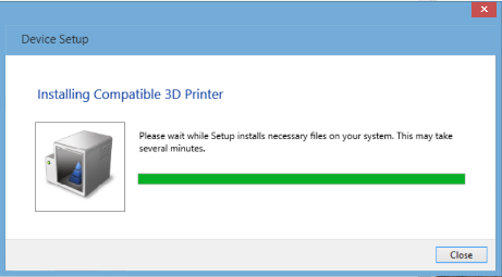 MICROSOFT COMPATIBLE 3D PRINTER WINDOWS VISTA DRIVER
