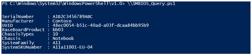powershell get serial number as string