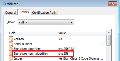 driver signature error windows 7