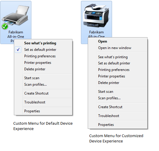 Device Experience Scenarios for Document Devices - Windows drivers
