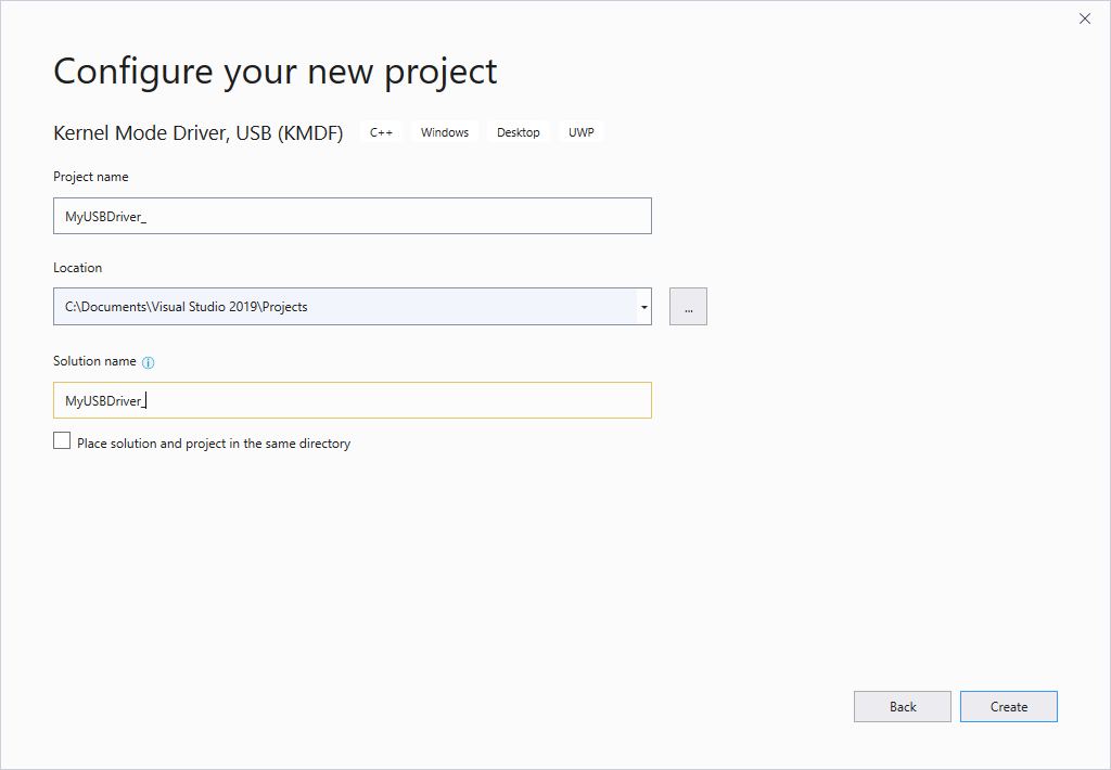 How to write your first USB client driver (KMDF) - Windows