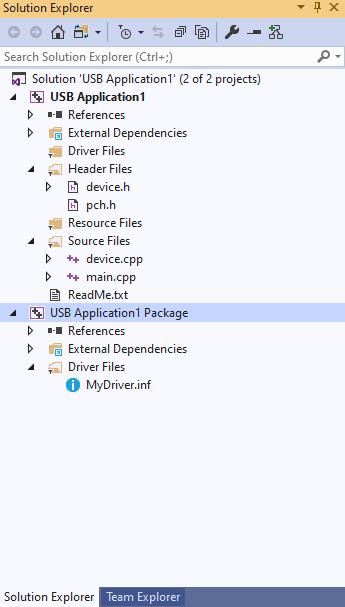 Write a Windows desktop app based on the WinUSB template - Windows