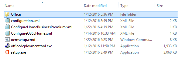 Office folder copied to OfficeV16.3