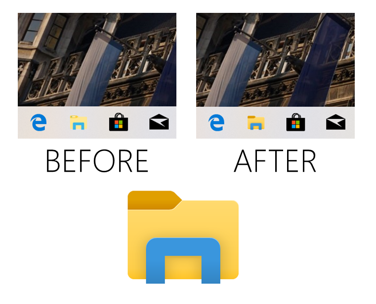 Before and after folder improvements