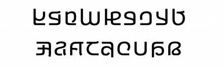Showing sample of the Ebrima font