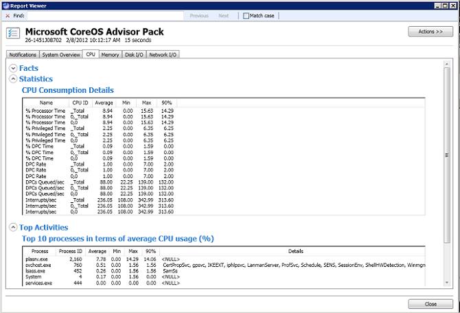 Server Performance Advisor User's Guide | Microsoft Docs