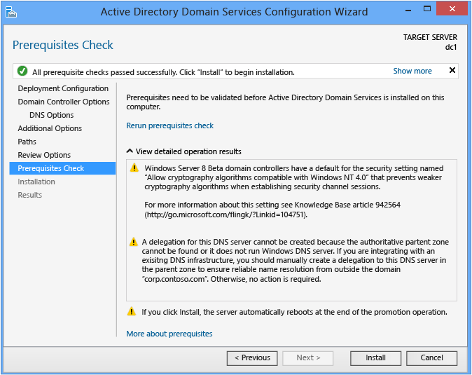 Install A New Windows Server 2012 Active Directory Forest Level 200