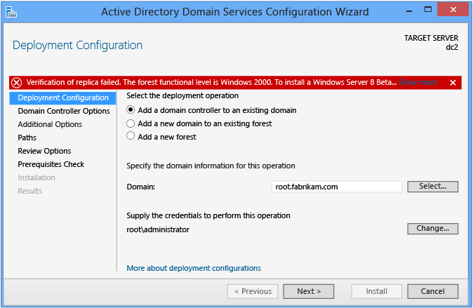Add secondary Windows Server 2012 R2 Domain Controller