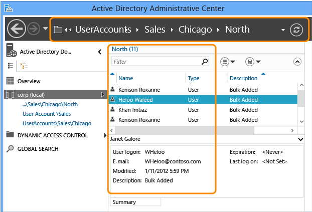 advanced ad ds management using active directory administrative ...