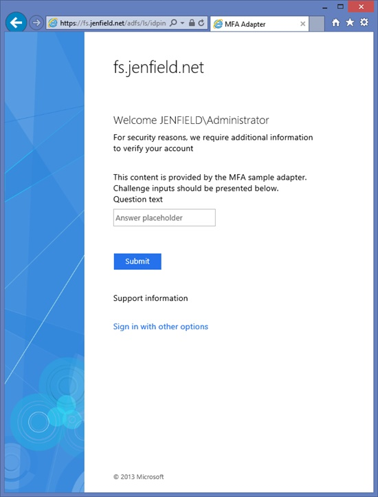 Build a Custom Authentication Method for AD FS in Windows