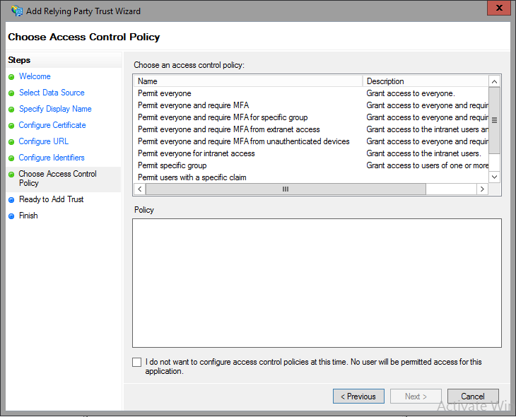 Access control policies in ad fs microsoft docs for Access control policy template