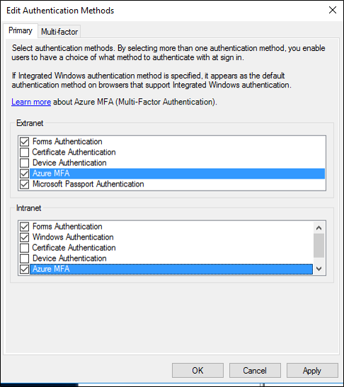 Configure AD FS 2016 and Azure MFA | Microsoft Docs