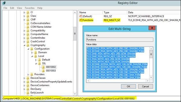 registry key tls 1.2