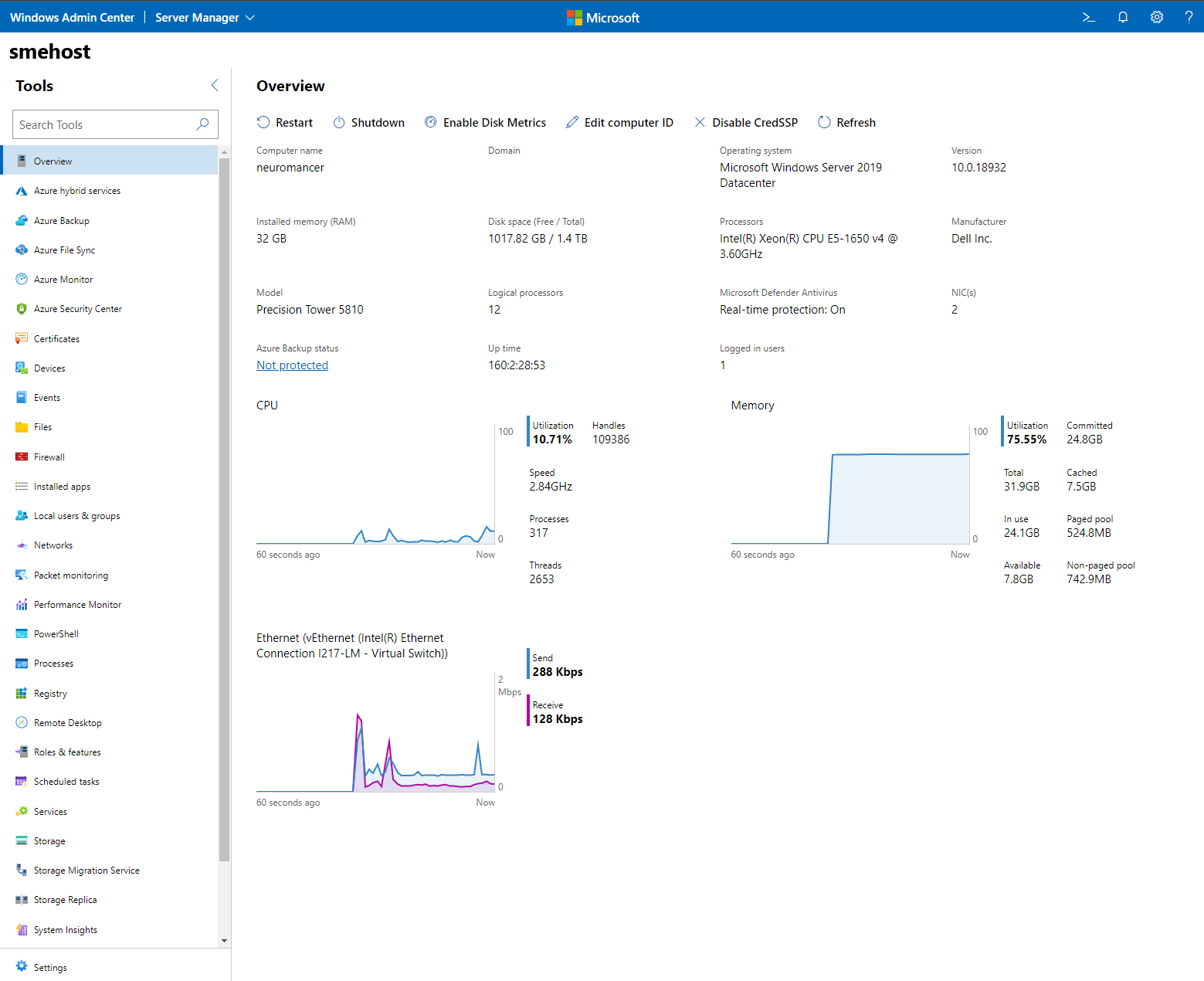 Manage Servers with Windows Admin Center | Microsoft Docs