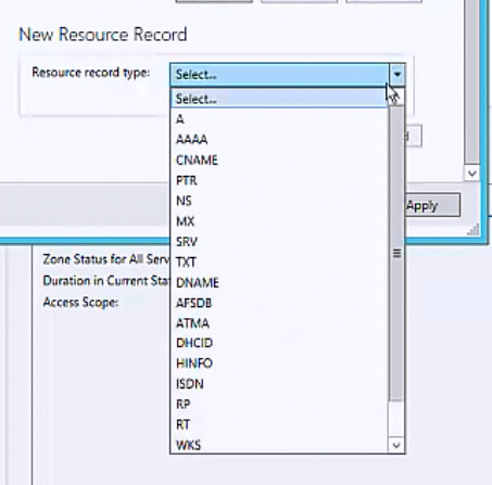 Select record type to add