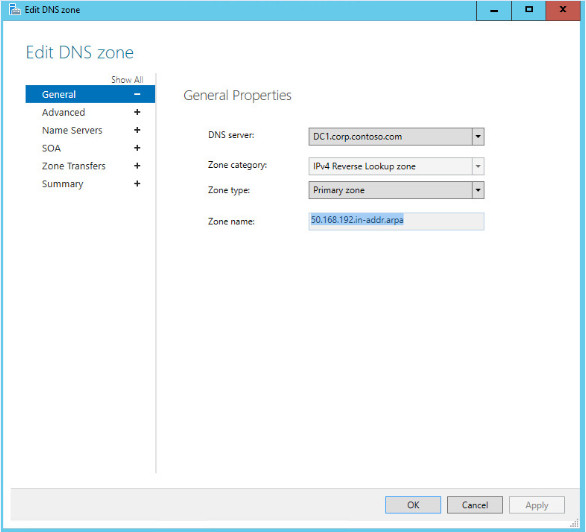 Edit A DNS Zone