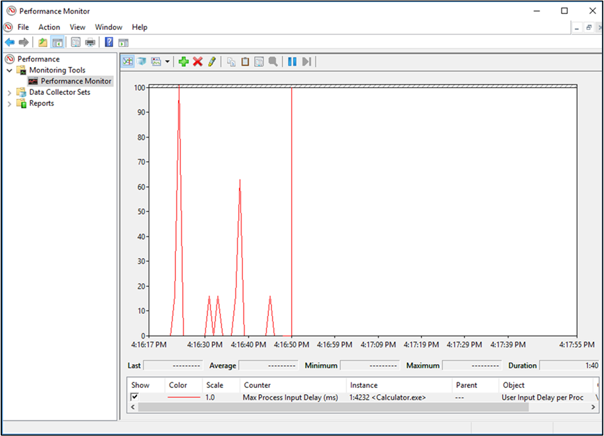 Use performance counters to diagnose application