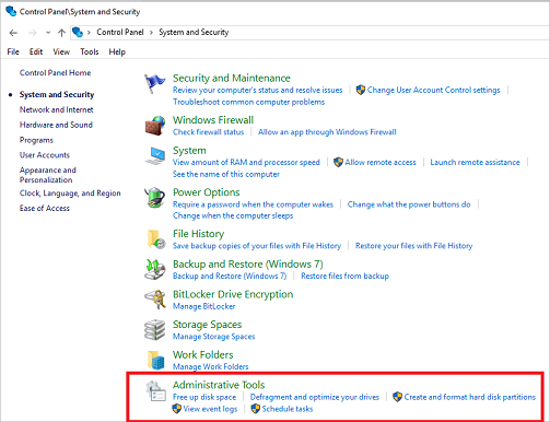 Administrative Tools in Windows 10 (Windows 10) - Windows Client Management  | Microsoft Docs