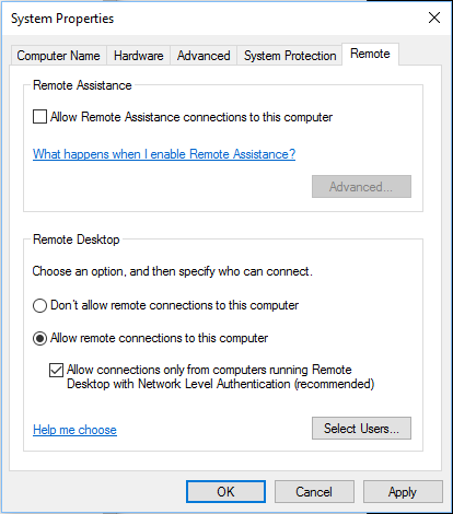 Connect to remote Azure Active Directory-joined PC (Windows 10