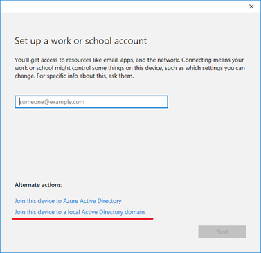 connect windows 10 to domain