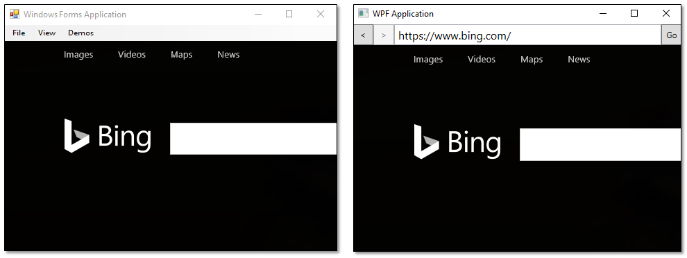 WebView control for Windows Forms and WPF - Windows