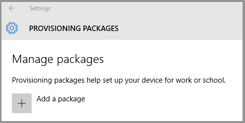 Apply a provisioning package (Windows 10) | Microsoft Docs