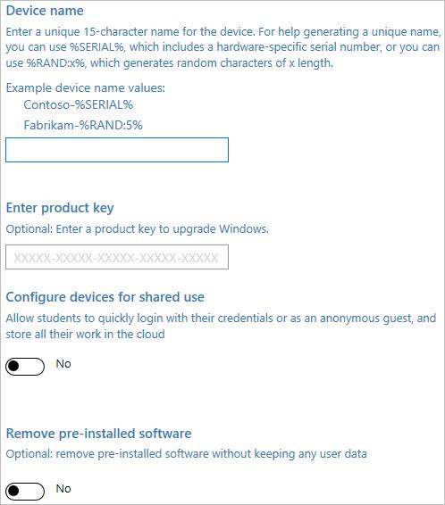 Provision PCs with common settings (Windows 10) | Microsoft Docs