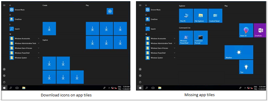 windows 10 start menu resets every time