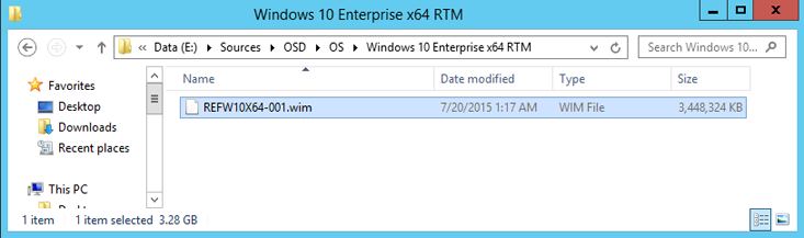 Add a Windows 10 operating system image using Configuration Manager