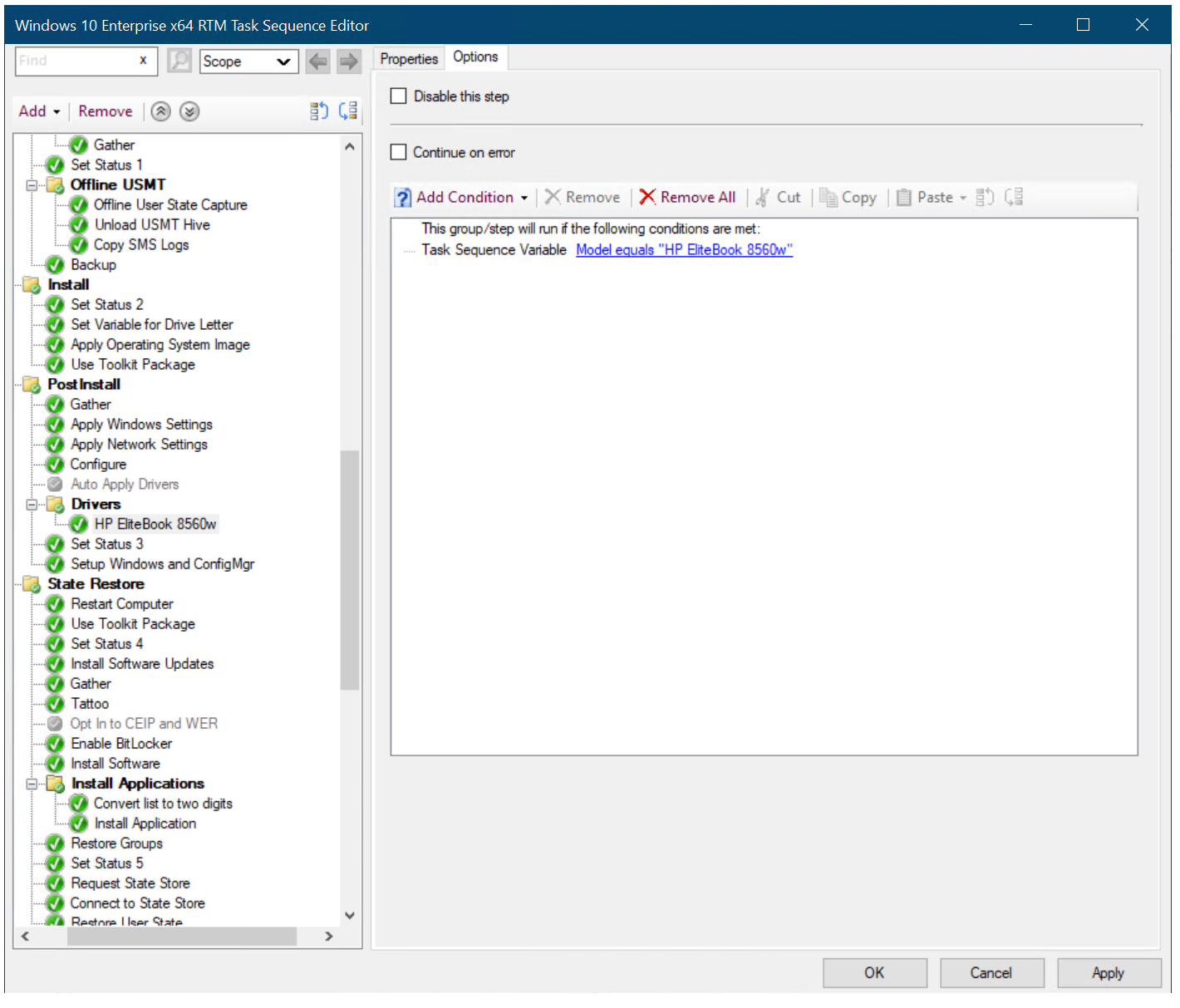 Create a task sequence with Configuration Manager and MDT