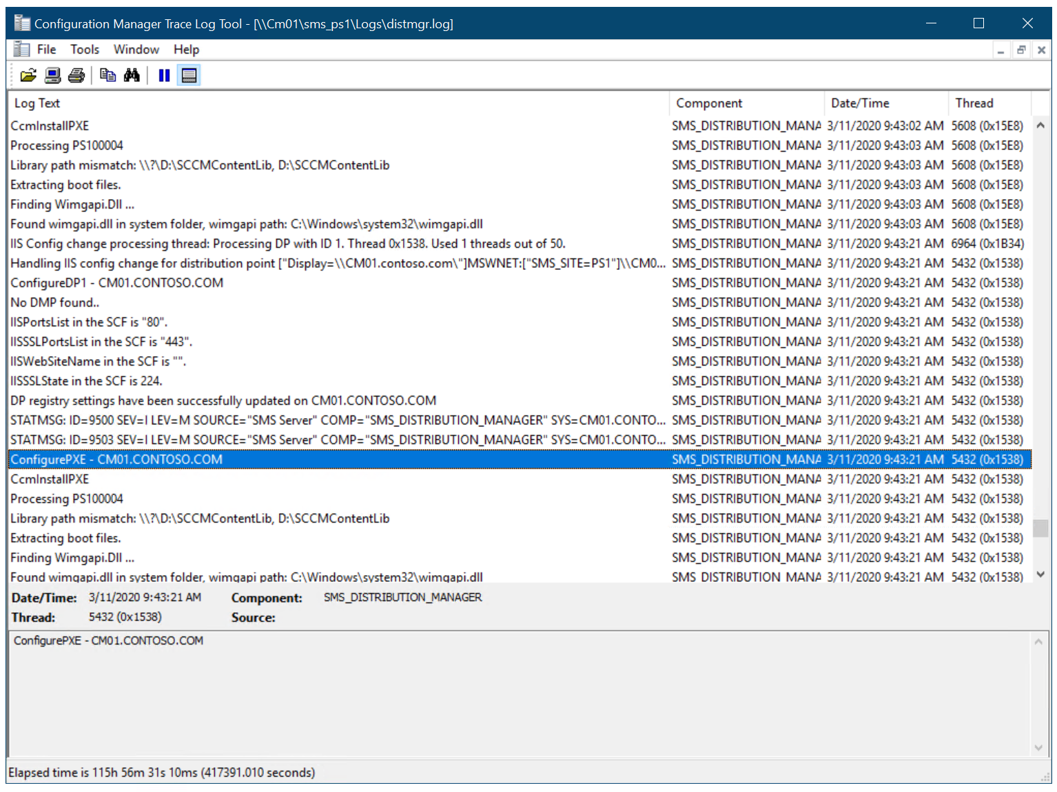 Pxe configuration utility updating