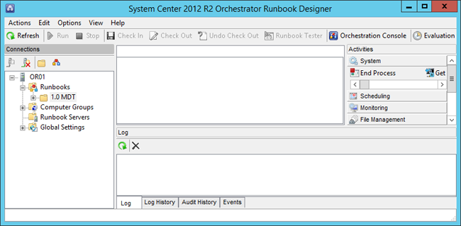 Use Orchestrator runbooks with MDT (Windows 10) | Microsoft Docs