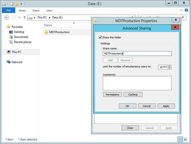 Build a distributed environment for Windows 10 deployment