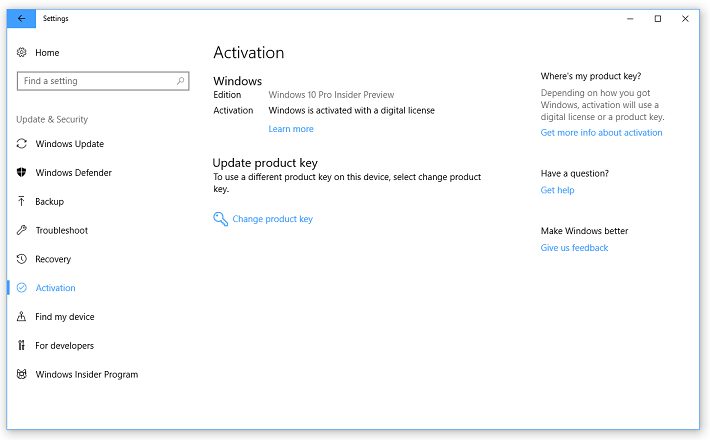 windows 10 home activation key