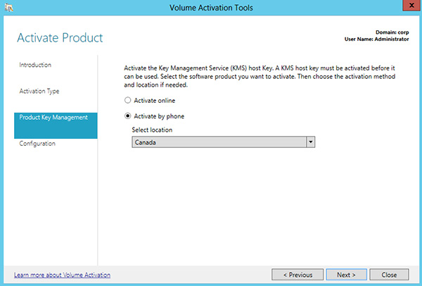 Activate using Active Directory-based activation (Windows 10