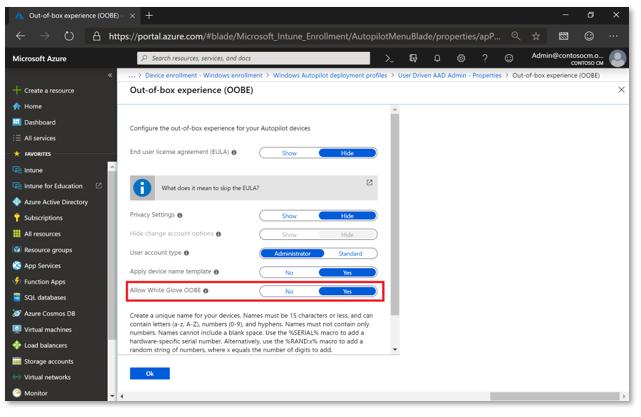 Windows Autopilot for white glove deployment | Microsoft Docs