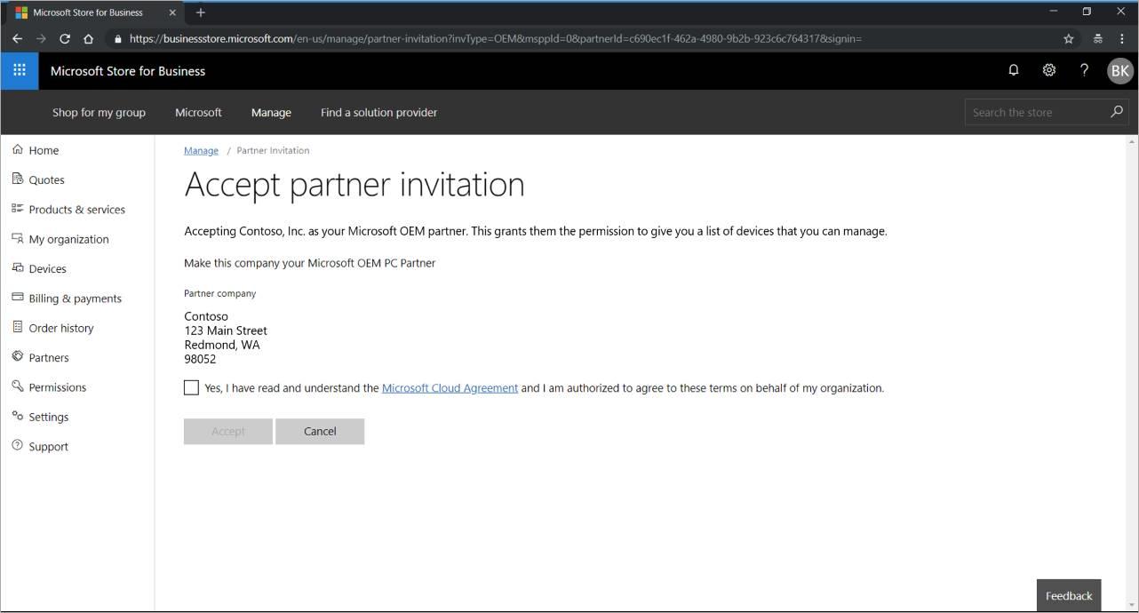 Windows Autopilot customer consent | Microsoft Docs