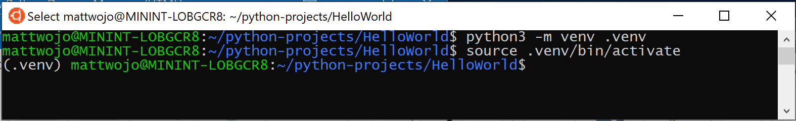 Web development with Python on Windows - Windows apps
